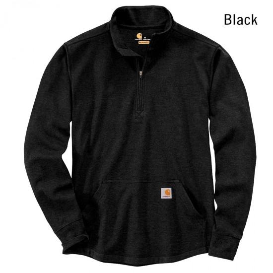 Thermal Half Zip Long Sleeve T-Shirt