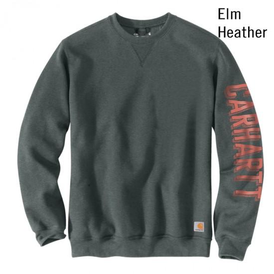 Crewneck Graphic Sleeve Sweatshirt