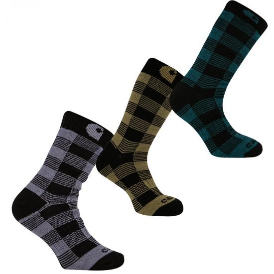Thermal Plaid Crew Sock