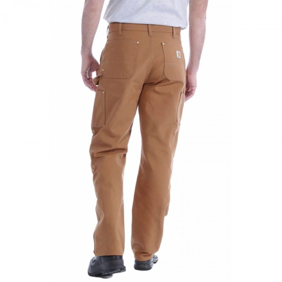 Double Front Logger Pant - Carhartt Brown, W:46/L:32