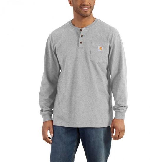 Henley Long Sleeve Pocket T-Shirt