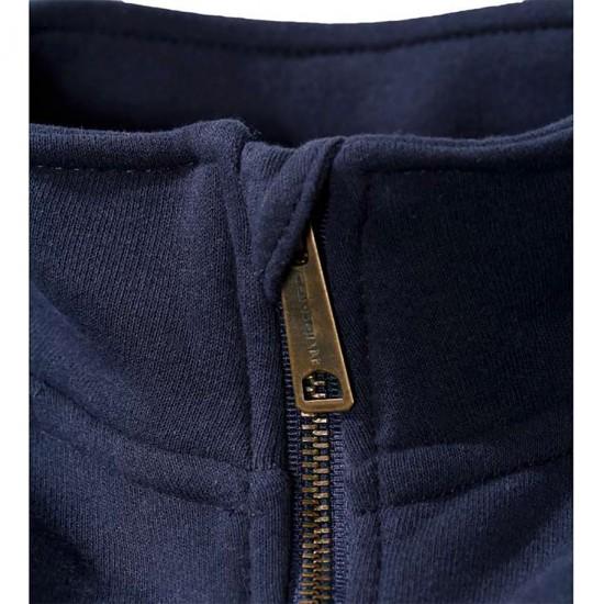 Mock Neck Zip Front Sweatshirt