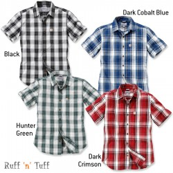 Carhartt Plaid Short Sleeve Shirt (102548) - XX Large, Dark Cobalt Blue