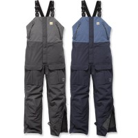 Carhartt Waterproof Angler Bib Overalls (102984) - Blue, Medium