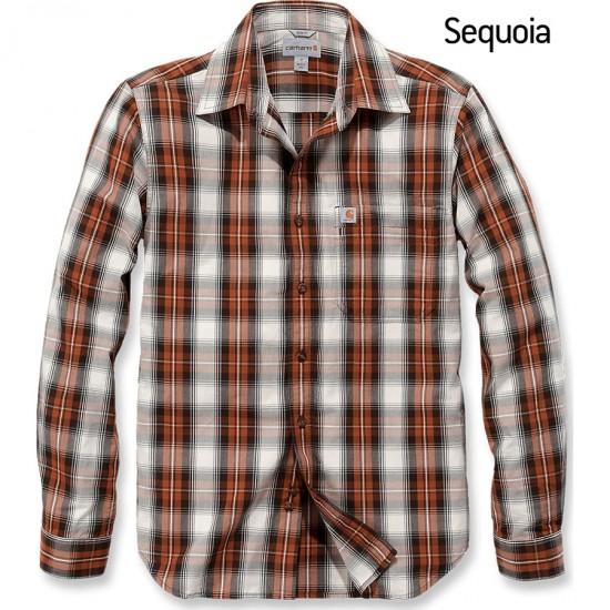 Essential Open Collar Plaid Shirt