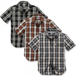Carhartt Essential Open Collar Short Sleeve Plaid Shirt (103668)