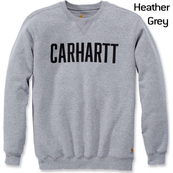 Mens Womens Carhartt Logo Classic Casual Sweatshirt Crew Neck Jumper Long Sleeve