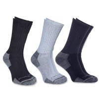 Carhartt All-Season Cotton Crew Work Socks (3-pack) (A62)
