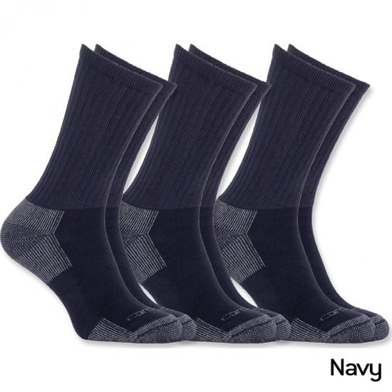 All-Season Cotton Crew Work Socks (3-pack)