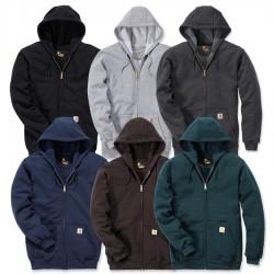 Carhartt Zip Front Hooded Sweatshirt - Midweight (K122)