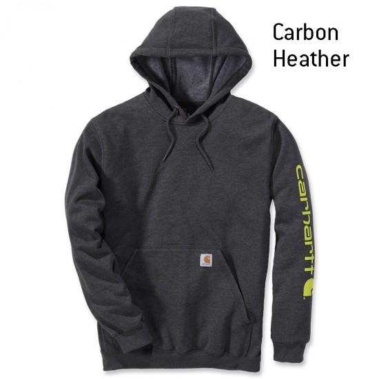 Sleeve Logo Midweight Hooded Sweatshirt