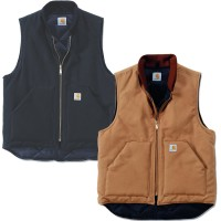 Carhartt Duck Vest - Arctic Quilt Lined (V01) - Carhartt Brown, Medium