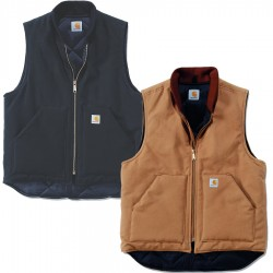 Carhartt Duck Vest - Arctic Quilt Lined (V01) - Black, XX Large
