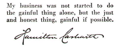 Hamilton Carhartt Statement