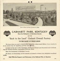 Carhartt Timeline 1930