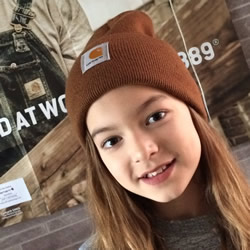 Miss Thompson rocking her Carhartt Beanie!